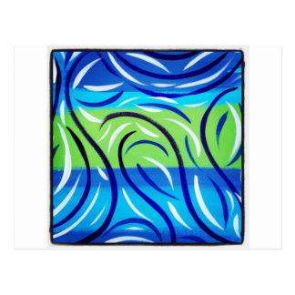 Blue Swirl Postcard