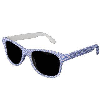 Blue Swirl Renaissance Polarized Lens Sunglasses