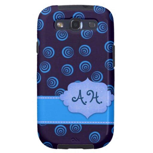 Blue Swirl SIII Case Galaxy SIII Cover