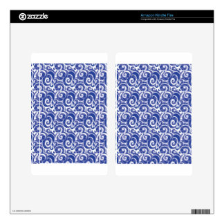 Blue Swirl Skins For Kindle Fire