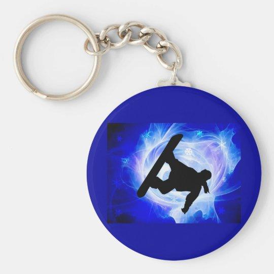 Blue Swirl Snowstorm Keychain