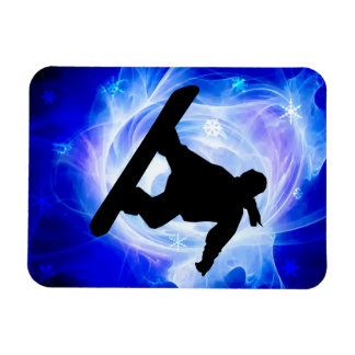 Blue Swirl Snowstorm Magnet