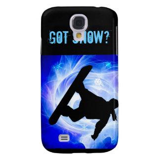 Blue Swirl Snowstorm Samsung Galaxy S4 Case