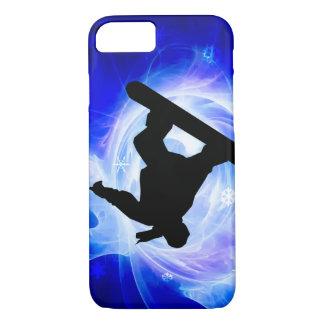 Blue Swirl Snowstorm Snowboard iPhone 8/7 Case