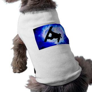 Blue Swirl Snowstorm T-Shirt