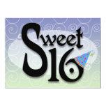Blue Swirl Sweet 16 Announcements