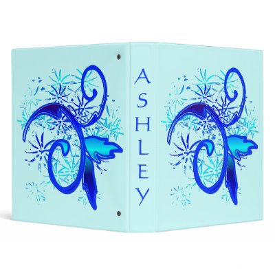 Digitally Designed Blue Swirl Tattoo Design