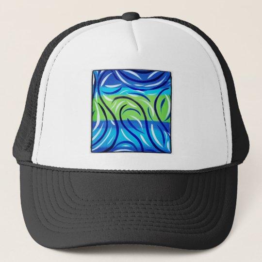 Blue Swirl Trucker Hat