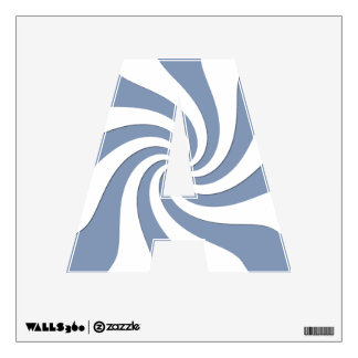 Blue Swirl Wall Decal
