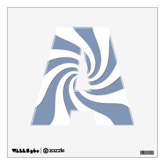 Blue Swirl Wall Decal
