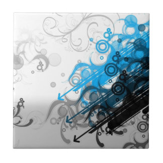Blue swirlies ceramic tile