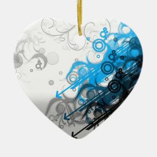 Blue swirlies christmas ornament