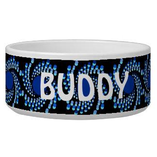 Blue Swirling Dots (Choose Background Color) Bowl