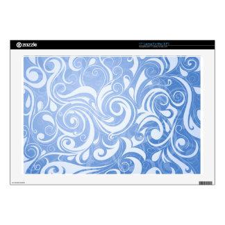 "Blue Swirls 17"" Laptop Skins"