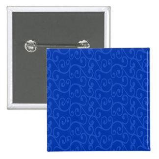 Blue swirls 2 inch square button