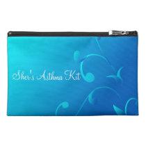 Blue Swirls Asthma Emergency Kit Travel Accessory Bag