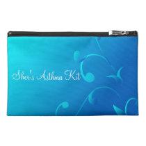 Blue Swirls Asthma Emergency Kit Travel Accessory Bag