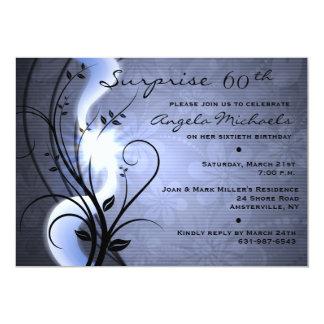 Blue Swirls Birthday Party Invitation