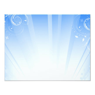 blue swirls card