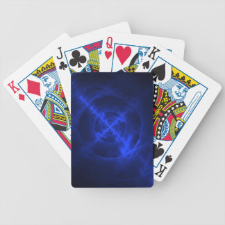 Blue Swirls fractal design Bicycle Playing Cards