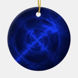 Blue Swirls fractal design Ornaments