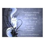 """Blue Swirls Invitation 5"""" X 7"""" Invitation Card"""