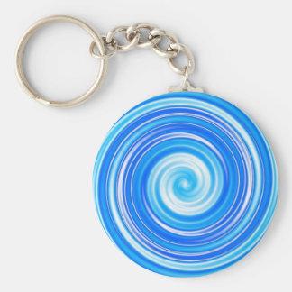 Blue swirls keychains