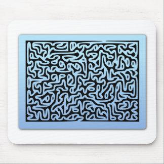 Blue Swirls Maze Mouse Pad