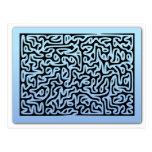 Blue Swirls Maze Postcards