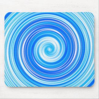 Blue swirls mouse pad