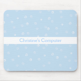 Blue Swirls Mousepad