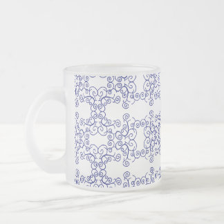 blue swirls mug