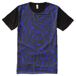 Blue swirls pattern All-Over print t-shirt