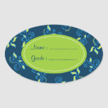 Blue swirls pattern sticker