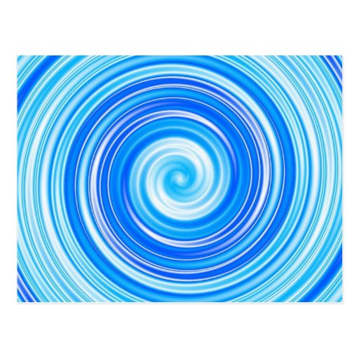 Blue swirls postcard