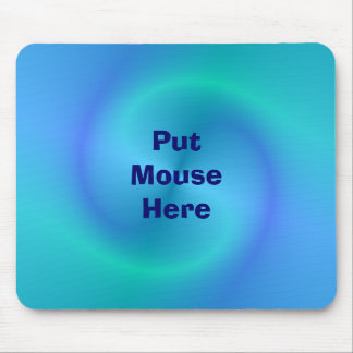 Blue Swirls - Put Mouse Here Mouse Mats