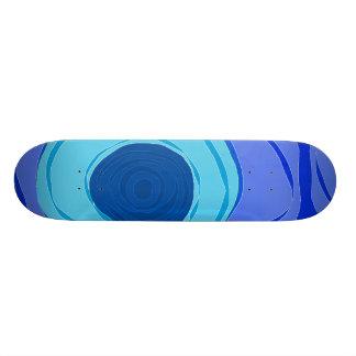 Blue Swirls Skate Board