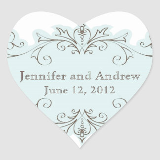 Blue Swirls Wedding Favor Stickers