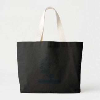 blue swirly bird vector canvas bags