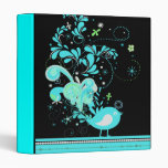 blue swirly bird vector vinyl binder