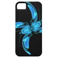 Blue Swirly Fractal iPhone 5 Cases