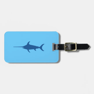 Blue Swordfish Tags For Luggage