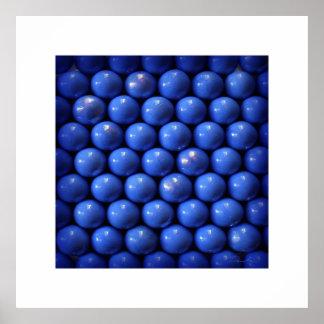 blue symetricla balls design print