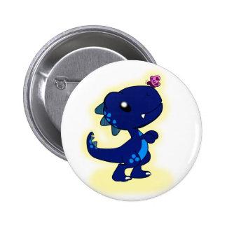 Blue T-Rex 2 Inch Round Button