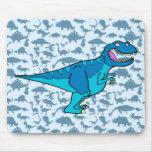 Blue T-rex Mouse Pads