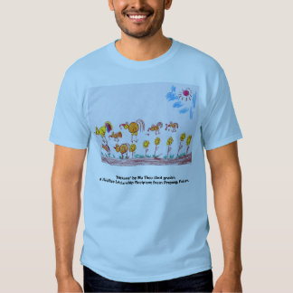 """BLUE T-SHIRT """"Chickens"""" (PICTURE IN FRONT)"""