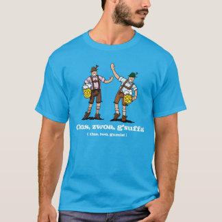 Blue T-Shirt Happy Lederhosen Men Beer Stein