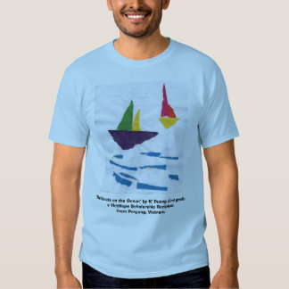 """BLUE T-SHIRT """"Sailboats"""" (PICTURE IN FRONT)"""