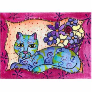 Blue Tabby Cat Cutout