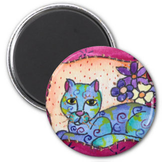 Blue Tabby Cat Magnets
